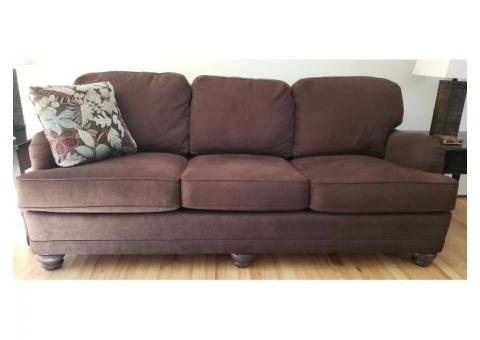 Brown Sofa and Loveseat by Smith Brothers